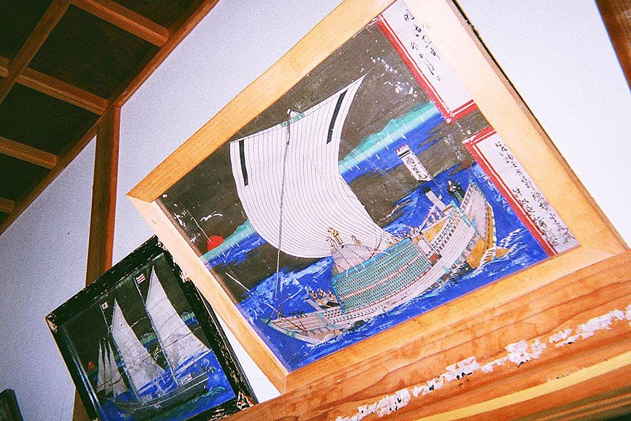 吉浦の雲冲寺観音堂に納められた船絵馬
