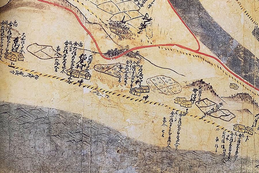 慶長2年越後国瀬波郡絵図に見る上海府の様子