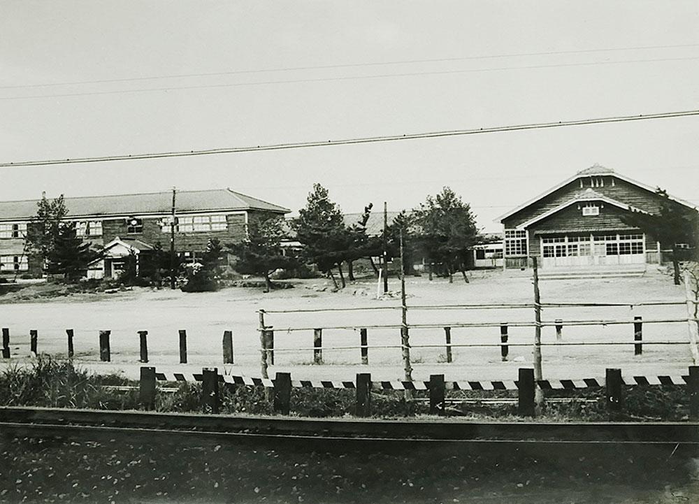 昭和40年頃、体育館が建て替えられる前の様子